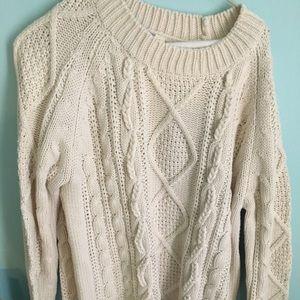 Cream sweater Francesca's size large